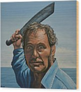 Robert Shaw In Jaws Wood Print