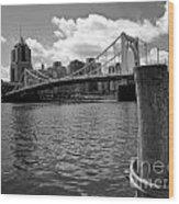 Roberto Clemente Bridge Pittsburgh Wood Print by Amy Cicconi