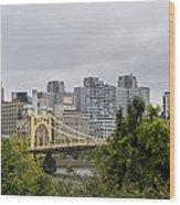 Roberto Clemente Bridge Pittsburgh Pa Wood Print