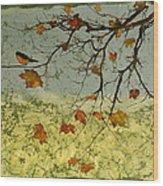 Robin In Maple Wood Print by Carolyn Doe