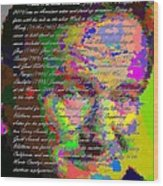 Robin Williams - Abstract With Text Wood Print