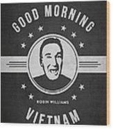 Robin Williams - Dark Wood Print
