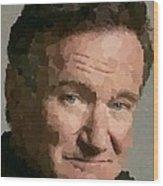 Robin Williams Portait Wood Print
