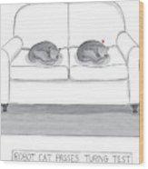 Robot Cat Passes Turing Test Wood Print