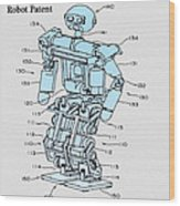 Robot Patent Wood Print