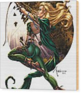Robyn Hood 01h Wood Print by Zenescope Entertainment