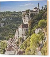 Rocamadour Midi-pyrenees France Wood Print by Colin and Linda McKie