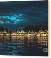 Roche Harbor  At Sunset Wood Print