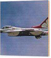 Rochester Air Show Thunderbirds Wood Print