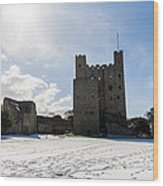 Rochester Castle Wood Print