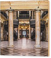 Rochester City Hall Main Hall Wood Print