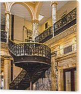 Rochester City Hall Stairs Wood Print