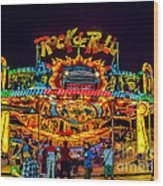 Rock And Roll On The Boardwalk Wood Print