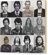 Rock and Roll's Most Wanted - Part II Wood Print