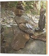 Rock Balance Wood Print