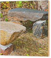 Rock Bench And Table Wood Print