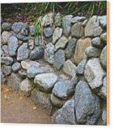 Rock Bench Wood Print