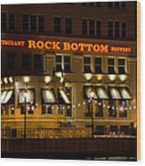 Rock Bottom - Milwaukee  Wood Print