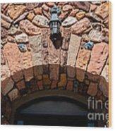 Rock Church Stone Archway - Cedar City - Utah Wood Print
