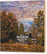 Rock City Barn Wood Print