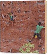 Rock Climbing 101 Wood Print
