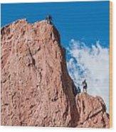 Rock Climbing  Wood Print
