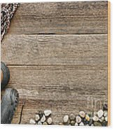Rock Climbing Background Wood Print