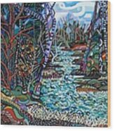 Rock Creek Wood Print