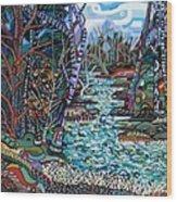 Rock Creek Wood Print by Deborah Glasgow