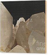 Rock Crystals Wood Print