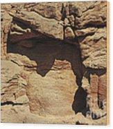 Rock Face 3 Wood Print