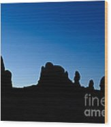 Rock Formations, Arches National Park Wood Print