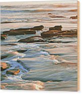 Rock Formations At Windansea Beach, La Wood Print