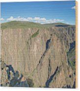 Rock Formations In Black Canyon Wood Print
