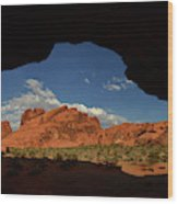 Rock Formations In The Valley Of Fire Wood Print