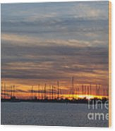 Rock Hall Sunset I Wood Print