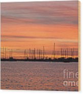 Rock Hall Sunset II Wood Print