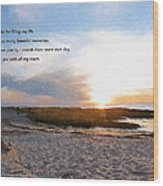 Rock Harbor Quote Wood Print