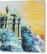 Rock Hewn Monastery Ad-deir Wood Print by Catf