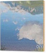 Rock Lake Alberta Canada And Willmore Wilderness Wood Print