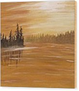 Rock Lake Morning 1 Wood Print