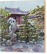 Rock Landscape Of The Dr. Sun Yat-sen Garden Wood Print
