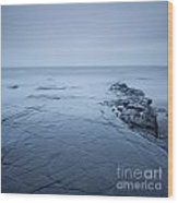 Rock Ledge At Kimmeridge Bay Wood Print