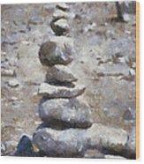 Rock Markers Photo Art 02 Wood Print