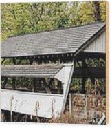 Rock Mill Covered Bridge Ohio Wood Print