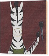 Rock 'n Roll Zebra Wood Print by Christy Beckwith