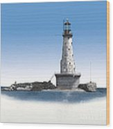Rock Of Ages Lighthouse Wood Print