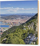 Rock Of Gibraltar Wood Print