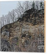 Rock Of Many Faces  Wood Print