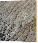 Rock Polygon Stripes Wood Print
